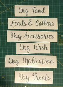 Dog Owners Organisation Vinyl Labels - Personalisation available - Set of 6