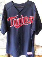 Authentic Minnesota Twins Game Issued Game Used Majestic NAVY Jersey #64 Sz 48
