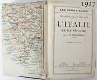 1926 ANTIQUE FRENCH GUIDE BOOK – MAPS & LANDMARKS OF ITALY