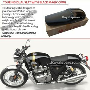 "Royal Enfield ""TOURING DUAL SEAT WITH BLACK MAGIC COWL"" For Continental GT 650"
