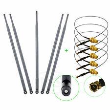 5 x 9dBi Dual Band RP-SMA WiFi Antenna + U.fl For Linksys E2000 E2100L E2500