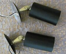 MID CENTURY PAIR BLACK LINCOLN CO. LIGHT SCONCES