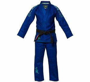 Fuji Kids Childrens Blossom Brazilian Jiu Jitsu Gi Jiu-Jitsu BJJ - Blue