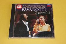 """CD """"PAVAROTTI & FRIENDS 2"""" B. ADAMS, BOCELLI, M. KAMEN... DECCA, 1995 - TB ÉTAT"""