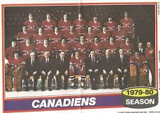 1980-81 Topps Hockey Poster Montreal Canadiens Team #11