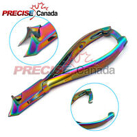 PRECISE CANADA Multi-Color Titanium Toenail Nipper/Clippers-/moon shape jaw 5.5""