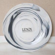 "Lenox Gray Marble Wave Set of 4 Dinner Plates 10 1/4"""