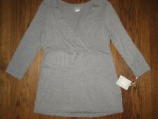 New womens maternity top blouse shirt A-glow gray XL 3/4 sleeve