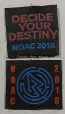 OA NOAC 2018 Shoulder Loops Set of 2 loops Mint Condition Free Shipping