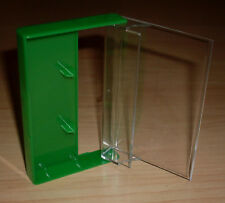 1 Kassettenhülle Leerhüllen für Cassetten MCs Hüllen grün Kassetten Case Neu