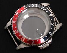 GMT watch case ETA 2836, ETA 2824-2 Seagull ST1612, Miyota 8205 Sapphire crystal