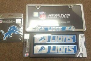 NFL Detroit Lions Official 3pc Truck Emblem Kit - License Plate Accent Kit