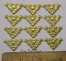 """(Lot of 12) 1"""" Across - Stamped Brass Corners - Unfinished Brass"""