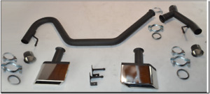 "FORD TRANSIT CUSTOM  DUAL EXHAUST SYSTEM WITH ENDS ""M"" STYLE"