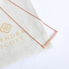 NEW Kendra Scott Kelsey Pendant Necklace In Rose Gold
