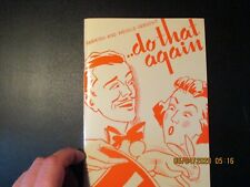 Do That Again - book - Parrish and Weigle
