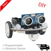 2WD Programmable Robot Car Kit Unfinished Microbit Robot Car RC Smart Car Kit