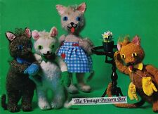 CAT, KITTENS & MITTENS   - COPY vintage toy knitting pattern