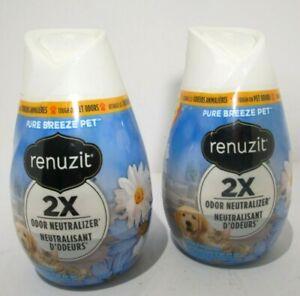 Renuzit Gel Air Freshener, Pure Breeze 7 oz. (2 Pack) New, FREE SHIPPING