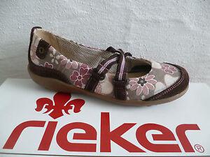 Rieker Mädchen Ballerina Slipper braun/rosé NEU