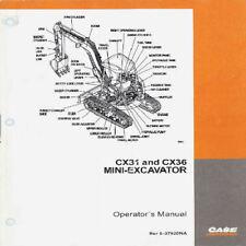 CASE CX31 CX36 MINI EXCAVATOR OPS MANUAL PDF CD, **asap available**