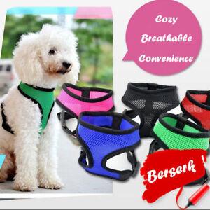 Soft Small Dog Harness Fashion Dog Vest Air Nylon Mesh Pets Clothes Pet Supplies