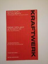 KRAFTWERK BRIXTON ACADEMY CONCERT TICKET 19th JULY