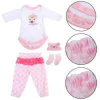 Pink Reborn Doll Girl Clothes Set For 20''-22'' Handmade Baby Doll   *