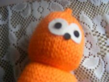 Hand Knitted EDF ENERGY MASCOT  ZINGY  SOFT TOY 6 inches tall
