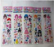 Children Stereoscopic Stickers Lot Of 5pcs girl favorite Gift 2020 wholesale New