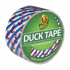 One Roll of Nautical Anchors Duck Brand Duct Tape (Red White & Blue)