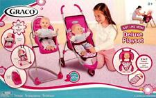 NEW GRACO JUST LIKE MOM DELUXE PLAYSET STROLLER HIGH CHAIR SWING TRAVEL SEAT NEW