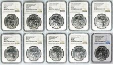 Full Set 2008-2017 Rwanda Wildlife Series Silver 1 oz. NGC MS69/70 - 10 Coins