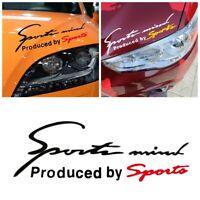 Letter Car Sticker Body Headlight Windscreen Styling Decal Sports Mind Produced