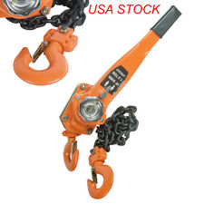 Chain Lever Block Hoist Come Along Ratchet Lift 1.5 Ton 3000lb Capacity USA