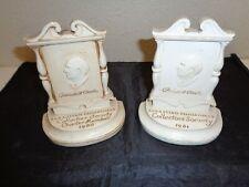 Sebastian Miniature Lot of 2 Collectors Society Plaques 1980 1981