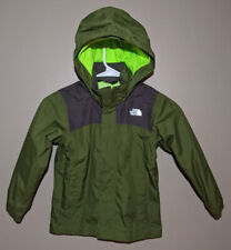 Boys North Face Shell Jacket Water Proof XXS Green/Gray Dry Vent