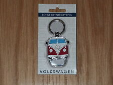 VW Camper Van Bottle Opener Keyring Red Officially Licensed by Volkswagen NEW
