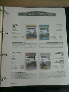 RAILWAY HERITAGE 1983 MINT STAMPS  TUVALU 15C  20C  30C  40C