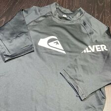 Quiksilver Mens Size Large T-Shirt Tee Quicksilver Rash guard Surfing Beach