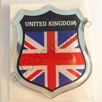 Sticker United Kingdom UK Union Jack Emblem 3D Resin Domed Gel Flag Vinyl Decal