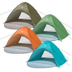 UV-Schutz Pop up Strandmuschel verschließbar – XXL Strandzelt cabana rapida