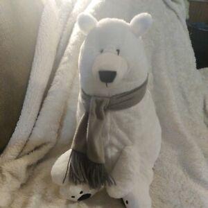 Animal Adventure Polar Bear With Grey Scarf Plush