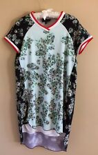 3c0e8e09efc Romeo + Juliet Couture Green Floral Dress Varsity Style Collar 90 s Style  MED