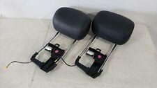 03-09 MERCEDES BENZ W211 E CLASS FRONT SEAT HEADREST HEAD REST PAIR BLACK OEM