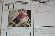MAX POMERANC CHILD ACTOR COSTUME WITH POLAROID COSTUMERS TAG!!!!!