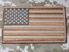 LARGE USA AMERICAN FLAG US ARMY BADGE DESERT VELCRO® BRAND FASTENER PATCH