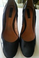 BCBG MAX AZRIA Women's  Black Patent Leather and Satin Shoes Size 8B