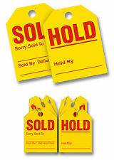 "Mirror Hang Tags - Red/Yellow - ""Hold Sold"" - 100 Pack 280-sh"