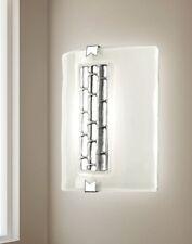 Applique 1 luce in vetro bianco e foglia argento coll. Dese 4509-1A